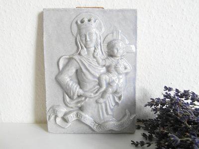 Brocante religieuze tegel *Verkocht*