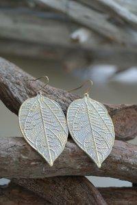 Oorbellen Leaf white