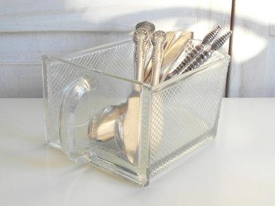 Glazen gruttersbak lade *Verkocht*