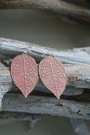 Oorbellen-Leaf-Pink