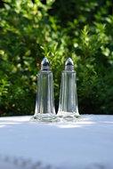 Glazen-peper-en-zout-stel-*Verkocht*
