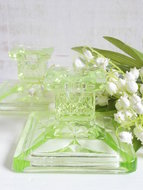 Annagroen-glazen-kandelaars-*Verkocht*